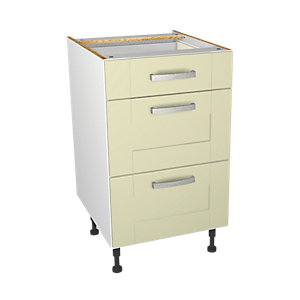 Wickes Ohio Cream Shaker Drawer Unit - 500mm