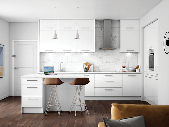Orlando White Ready to Fit Kitchen <br> Price based on 8 unit example*