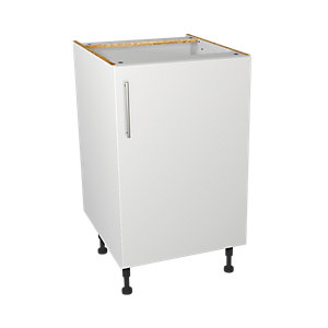 Wickes Orlando White Gloss Slab Base Unit - 500mm