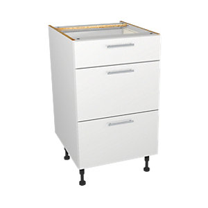 Wickes Orlando White Gloss Slab Drawer Unit - 500mm