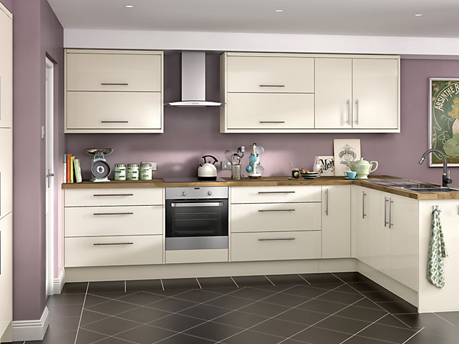 Orlando Cream Ready to Fit Kitchen <br> Price based on 8 unit example*