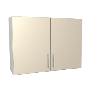 Wickes Orlando Cream Gloss Slab Wall Unit - 1000mm