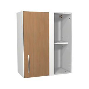 Wickes Oakmont Slab Corner Wall Unit - 600mm