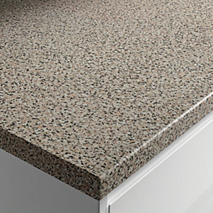 Wickes Gloss Laminate Worktop - Lava Rock 600mm x 38mm x 3m