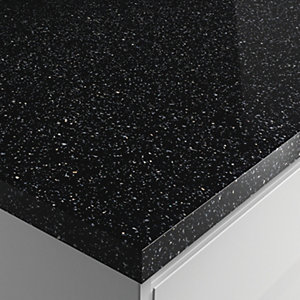 Wickes Gloss Laminate Worktop - Strasse Noir 600mm x 38mm x 3m