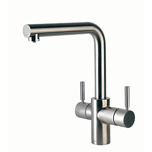 Image of Insinkerator Epira 3 in 1 Tap Brushed Steel
