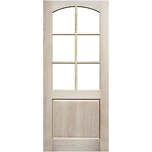 Wickes Camberley Internal Glazed 2 Panel Oak Veneer Door - 1981 x 762mm