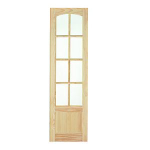 Wickes Newland Internal French Door Panel Clear Pine Glazed 8 Lite 1981 x 591mm