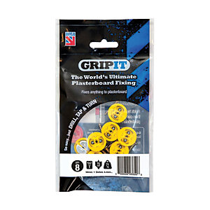 Image of GripIt 15mm Plasterboard Fixing - 4 x 25mm Pack of 8
