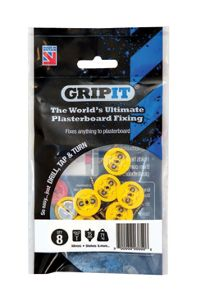GripIt 15mm Plasterboard Fixing - 4 x 25mm Pack of 8