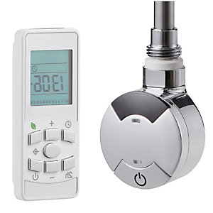 Towelrads 600W Smart Timed Thermostatic Element with Remote Control - 435mm x 60mm