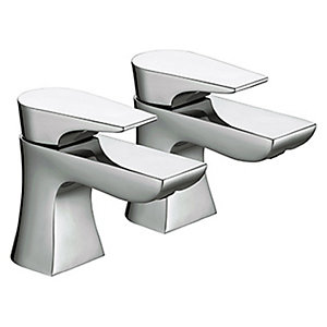 Bristan Hourglass Basin Taps - Chrome