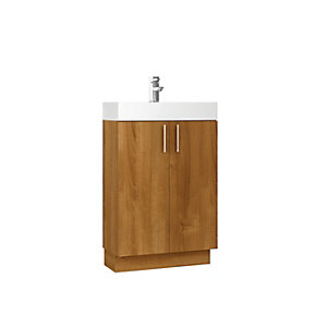Wickes Talana Walnut Floor Standing Vanity Unit  - 600mm