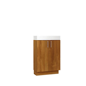 Wickes Talana Walnut Compact Floor Standing Vanity Unit - 600mm