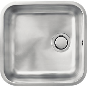 Carron Phoenix Zeta 1 Bowl Large Undermount Sink Stainless Steel
