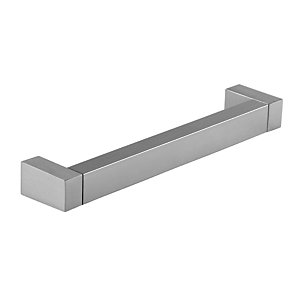 Wickes Georgia Square Bar Handle - Stainless Steel Effect