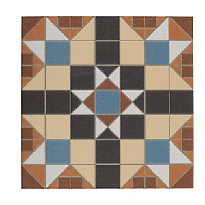 Wickes Dorset Marron Patterned Ceramic Tile 316 x 316mm Sample