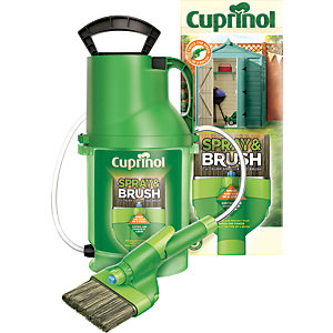 Image of Cuprinol Exterior Colour Paint Spray & Brush 2 in 1 Shed & Fence Pump Sprayer