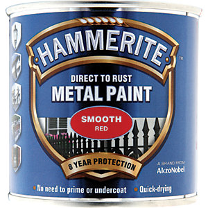 Hammerite Metal Paint - Smooth Red 250ml