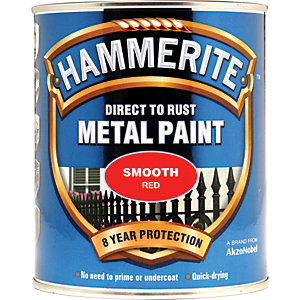 Hammerite Metal Paint - Smooth Red 750ml