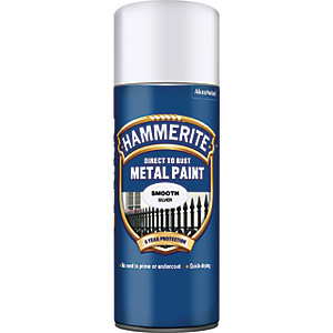 Hammerite Metal Aerosol Paint - Smooth Silver 400ml