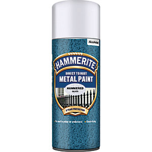 Hammerite Metal Aerosol Paint - Hammered Silver 400ml