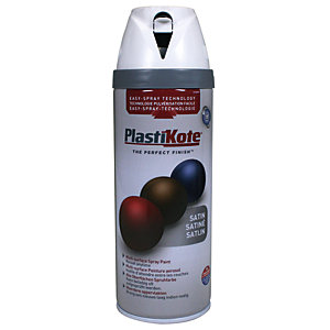 Plastikote Multi-surface Spray Paint - Satin White 400ml