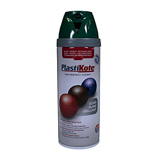 Plastikote Multi-surface Spray Paint - Gloss Lawn Green 400ml