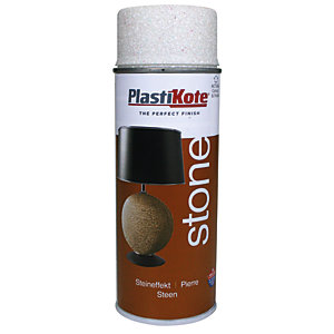 Plastikote Stone Touch Aerosol Spray - Alabaster 400ml