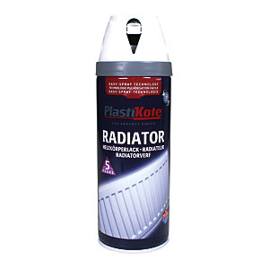 Plastikote Twist & Spray Radiator Paint - Satin White 400ml