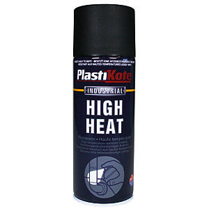 Plastikote Industrial High Heat Aerosol Spray - Black 400ml