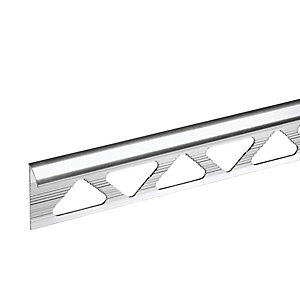 Image of Homelux 10mm Metal Quadrant Silver Effect Tile Trim
