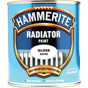 Hammerite Radiator Enamel Paint - Gloss White 500ml