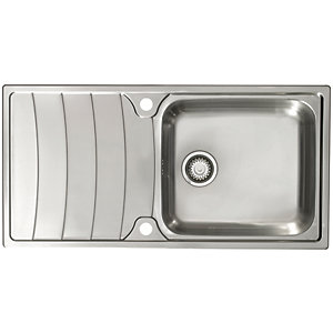 Wave 1 Bowl Kitchen Sink - Stainless Steel