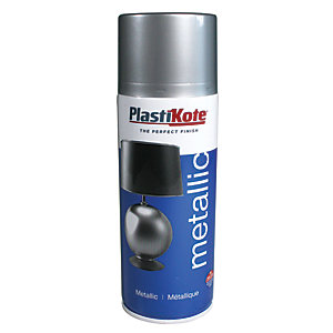 Plastikote Metallic Spray Paint - Silver 400ml