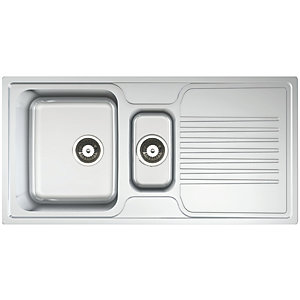 Linear 1.5 Bowl Kitchen Sink - Stainless Steel