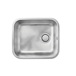 Carron Phoenix Zeta 1 Bowl Medium Undermount Sink Stainless Steel