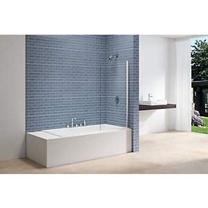 Nexa By Merlyn 6mm Adjustable Curved Clear Glass Bath Screen - 1500 x 800mm