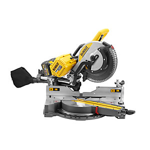 DEWALT DHS780T2-GB 54V Flexvolt Brushless Cordless 305mm Sliding Mitre Saw With 2 x 6.0Ah Batteries