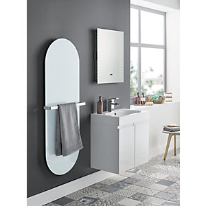 Image of Wickes Talana White Gloss Floor Standing J-Pull Vanity Unit - 600mm