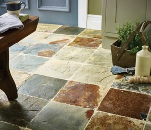 Wickes Slate Natural Stone Tile 300 x 300mm   Wickes.co.uk