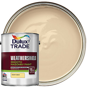 Dulux Trade Weathershield Smooth Masonry Paint - County Cream 5L