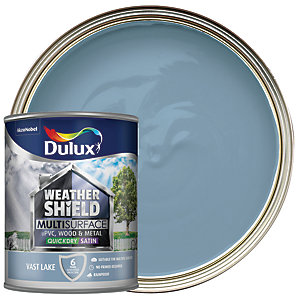 Dulux Weathershield Exterior Multi Surface Quick Dry Satin Paint - Vast Lake 750ml