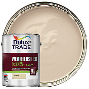 Dulux Trade Weathershield Smooth Masonry Paint - Sandstone 5L