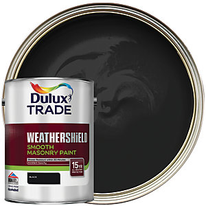 Dulux Trade Weathershield Smooth Masonry Paint - Black 5L