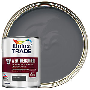 Dulux Trade Weathershield Exterior Undercoat Paint - Dark Grey 1L