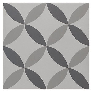Wickes Winchester Geo Grey Ceramic Tile 200 x 200mm Sample