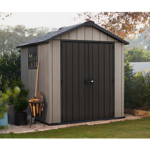 Keter Oakland Plastic Shed 7 x 7 ft Best Price, Cheapest Prices