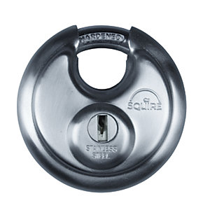 Squire Discus Padlock with Drill Protection & Boron Shackle - 70mm