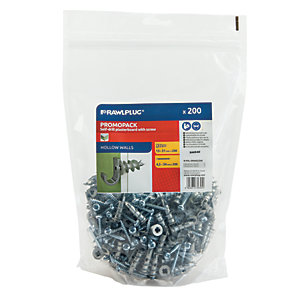Rawlplug Metal Self Drill Plasterboard Fixings - 4.5 x 30mm Pack of 200
